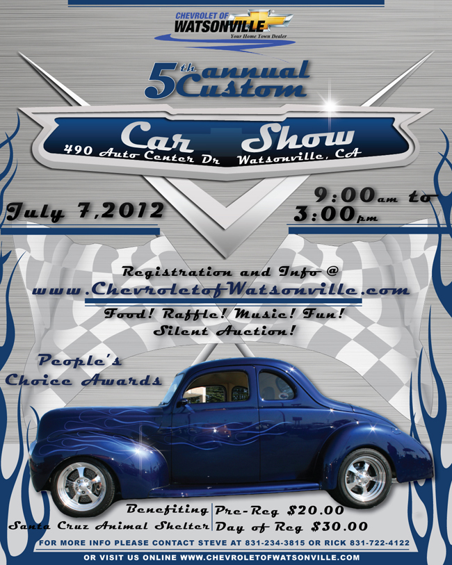 Car Show To Benefit Shelter Santa Cruz County Animal Shelter - Santa cruz car show
