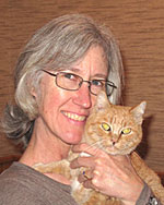 Dana Gleason with her cat Junebug