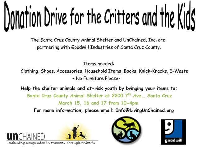 donation drive flyer